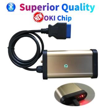 Złoty VD DS150E CDP z Bluetooth funkcji z OKI (M6636B OKI Chip) najlepsza jakość OBDII OBD2 skanera skaner interfejs narzędzia diagnostyczne tanie i dobre opinie CN (pochodzenie) scanner 22cm plastic Złącza i kable diagnostyczne do auta 0 6kg 15cm as show best fast and safe stable