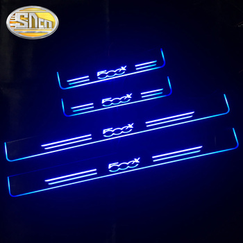 For Fiat 500 500x 500l Punto Tipo Freemont Panda Bravo LED Door Sill Scuff Plate Pedal Dynamic Welcome Lights Car Sticker