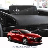Para mazda 3 bp 2019-presente estilo do carro display filme gps navegação tela de vidro película protetora controle de tela lcd