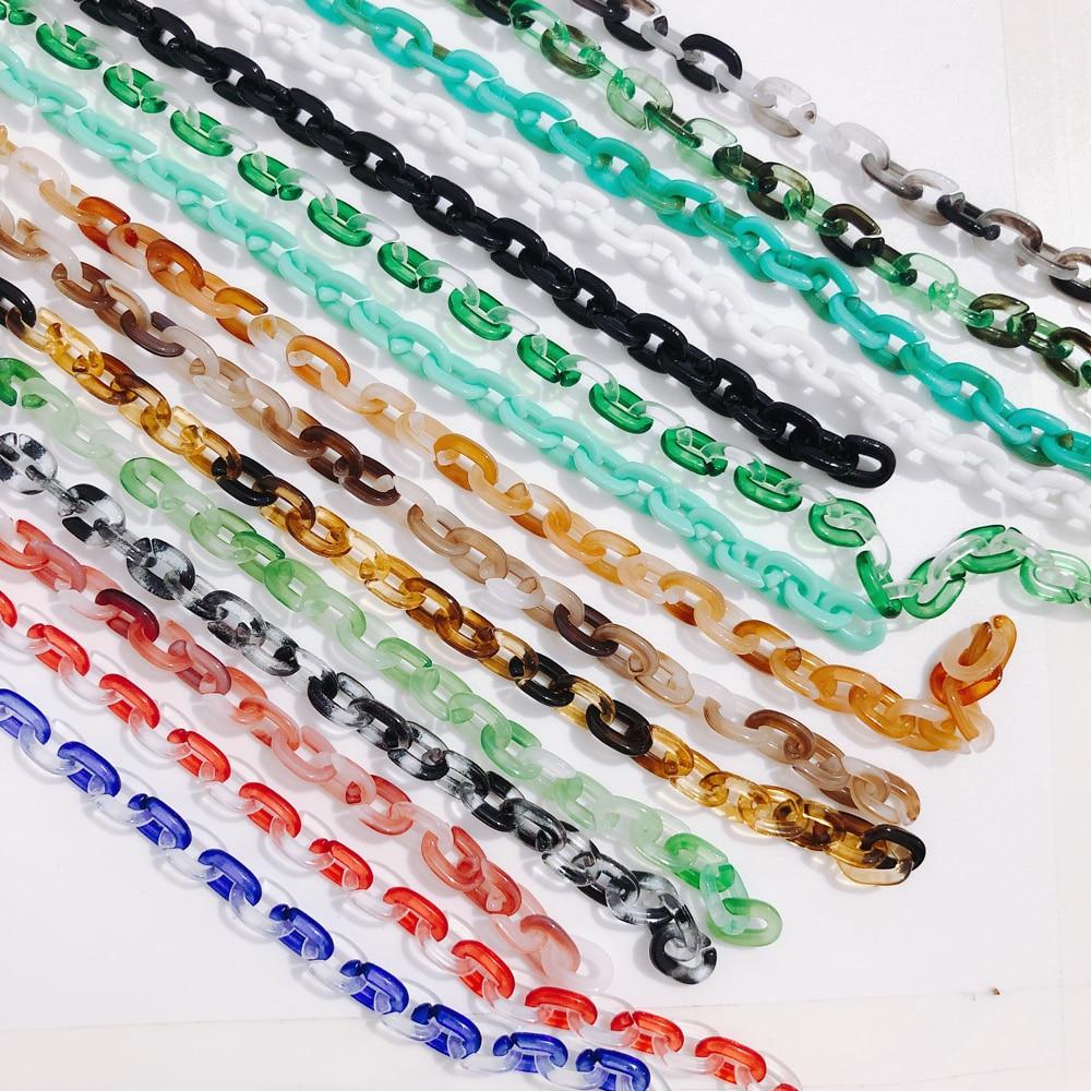 500 milímetros DIY2020 nova resina acrílica mix and match doce cor bolsa feminina bolsa de cadeia de acessórios de decoração 1 peça