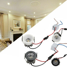Mini LED COB Downlights 3W 40mm 100V-240V Jewelry Display Ceiling Recessed Cabinet Spot Lamp High Power + Driver 85-265v