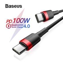 Кабель Baseus USB C к usb type C для Xiaomi Redmi Note 8 Pro Quick Charge 4,0 PD 100W быстрая зарядка для MacBook Pro зарядный кабель
