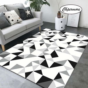 Chpermore Black and White Simple Large Carpets Feather Decoration Tatami Mats Bedroom Home Lving Room Rug Floor Rugs