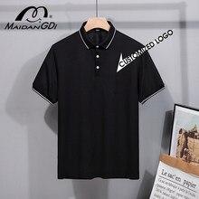 MAIDANGDI 2021 Men Polo Shirt Men Casual Embroidery Polo Shirt Men Short Sleeve High Quantity Polo Men Customized Logo Tops Golf