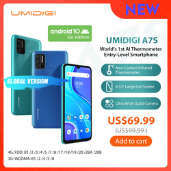 UMIDIGI A7S 6,53 дюйм20:9 доя больших полных Экран 32 Гб 4150 мАч тройной Камера мобильного телефона инфракрасный Температура Сенсор Тип C смартфон
