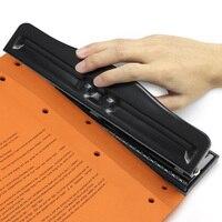 Metal 3/4 buraco anel perfurador álbum cortador de papel ajustável perfurador a4 scrapbooking diy ferramentas de escritório encadernação suprimentos|paper punch|three hole punch|punch punch -