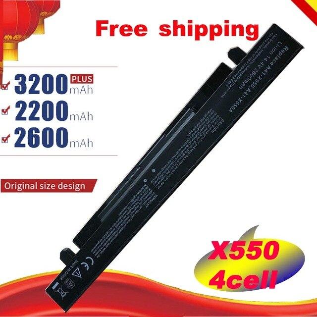 HSW 4 cep dizüstü pil asus için R510C R510D R510E R510L R510V x550 X550A X550C X550EA için A41 X550 A41 X550A