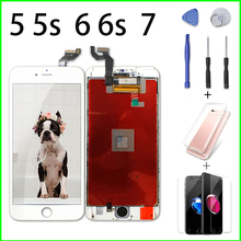 White/Black Ecran LCD for iPhone 5 5s 6 6s 7 Digiziter Assembly Pantalla 3D Screen Replacement with No Dead Pixel + Repair Tools alibaba china 30pcs no dead pixel white or black ecran for iphone 5 no dead pixel brand new lcd screen camera holder