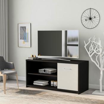 100cm nowoczesny drewniany telewizor podstawka na stół z pojemne półki i szafka na Media stół konsolowy na meble do salonu tanie i dobre opinie Nowoczesne Traditional Skandynawia CN (pochodzenie) Stolik pod telewizor Meble do domu