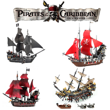 Legoing Movie 2 Pirates of The Caribbean Action Figures Creator Black pearl Ship Silent Mary Boat Model Building Blocks Kid Toys цена 2017