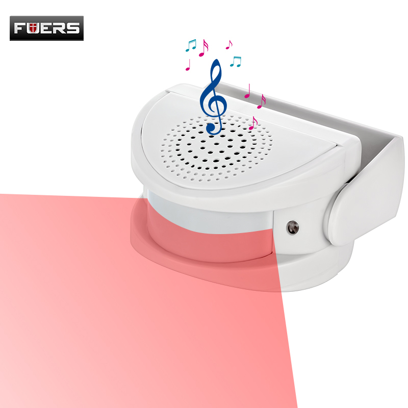 M5 Door Welcome White Pink Color Home Alarm Device Welcome Chime Wireless Infrared Motion Sensor Door Bell Alarm