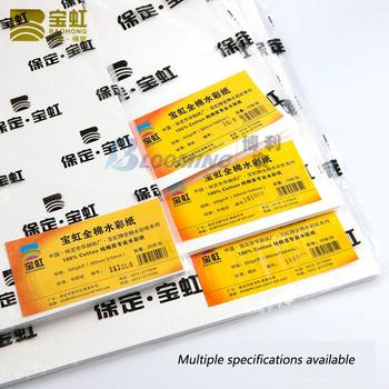 Baohong papier akwarelowy czysta bawełna 300g szorstkie średnie i cienkie wstążki kolor wody Acuarela Skechbook dostaw sztuki tanie i dobre opinie CN (pochodzenie) CS998