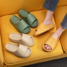 Couple Home Soft Slippers Thick Sole Non-slip EVA Indoor Shoes Flat Slides Men Women Beach Ourdoor Light Flip Flops Plus Size 45