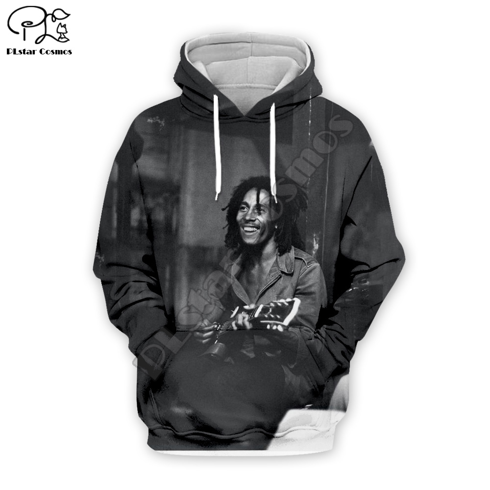 PLstar Cosmos HipHop Reggae Bob Marley Tracksuit Colorful Unisex NewFashion 3DPrint Zipper/Hoodie/Sweatshirt/Jacket/Men/Women S7