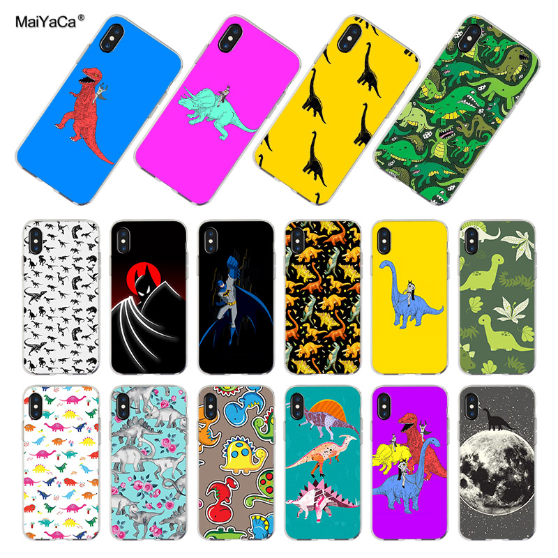 MaiYaCa <font><b>Dinosaurs</b></font> And Batman Colored Drawing soft tpu phone <font><b>Case</b></font> for <font><b>iPhone</b></font> 8 <font><b>7</b></font> 6S Plus Xs max 5S SE 11pro <font><b>case</b></font> Cover image