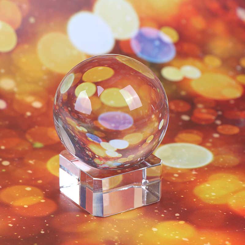 2/3/4/5CM bolas de cristal redondo de la semilla de la fotografía Feng Shui Color claro bolas de cristal Natural mágico para la decoración de la boda del hogar