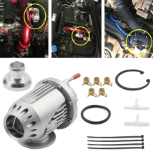 Car Off-Road ElectrIcal SQV 4 SSQV IV Turbo Blow Off Valve BOV Kit Silver