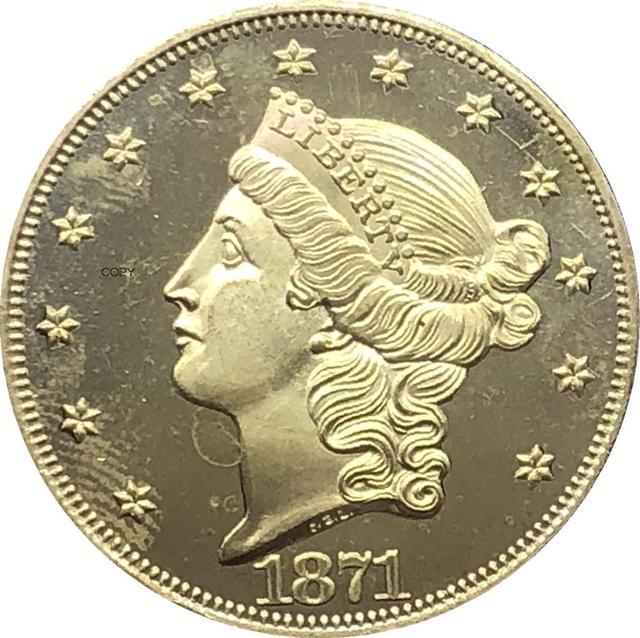 США с девизом Double Eagle 1870 CC 1871 CC 1872 CC 1873 CC 1874 CC 1875 CC 1876 CC 1877 CC 1878 CC 1879 CC двадцать долларов