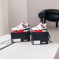 Simpatiche scarpe da ginnastica scatola per auricolari custodia per Apple Airpods 1/2 Cover moda cuffie in Silicone custodia Charing Capa per Airpods Pro