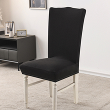Фото - High Elastic Chair Cover 1/4/10 Pcs Covers Chair Sofa Cover For Living Room Stretch Slipcover Wedding Chairs For Kitchen Covers straight stretchable chair cover 4 pcs black