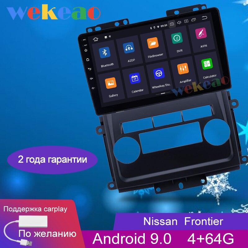 Wekeao-lecteur Dvd multimédia de voiture   9 ''1 din, Android 9.0, pour Nissan Frontier Xterra autoradio GPS Navigation 2009-2012, Bluetooth