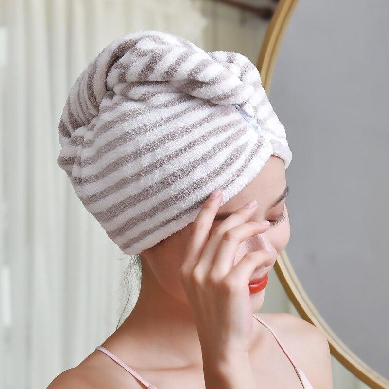 2 unids / set Womens Girls Lady's Quick Dry Bath Toalla de secado del - Textiles para el hogar