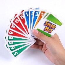1 коробка UNO SKIP BO карточная игра Sequencing карточная игра семейные вечерние настольные игры игрушки детские игрушки