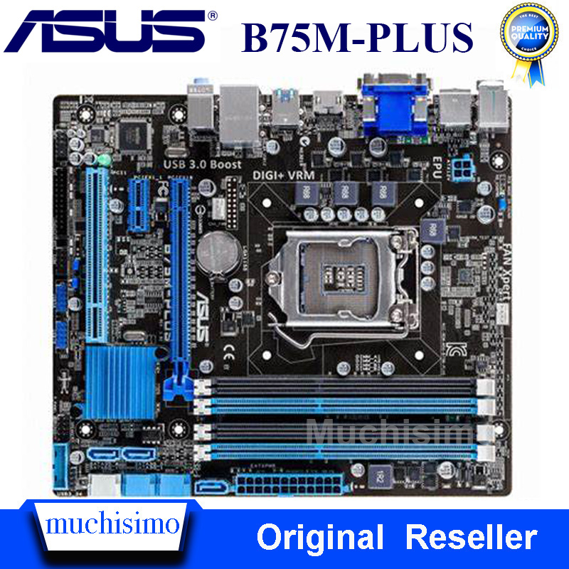 ASUS B75M-PLUS Motherboard For Intel LGA 1155 DDR3 Intel B75 Original Boards 32GB USB2.0 USB3.0 Mainboard Desktop Used Tested