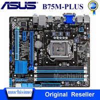 Asus B75M-PLUS placa-mãe para intel lga 1155 ddr3 intel b75 placas originais 32 gb usb2.0 usb3.0 mainboard desktop usado testado