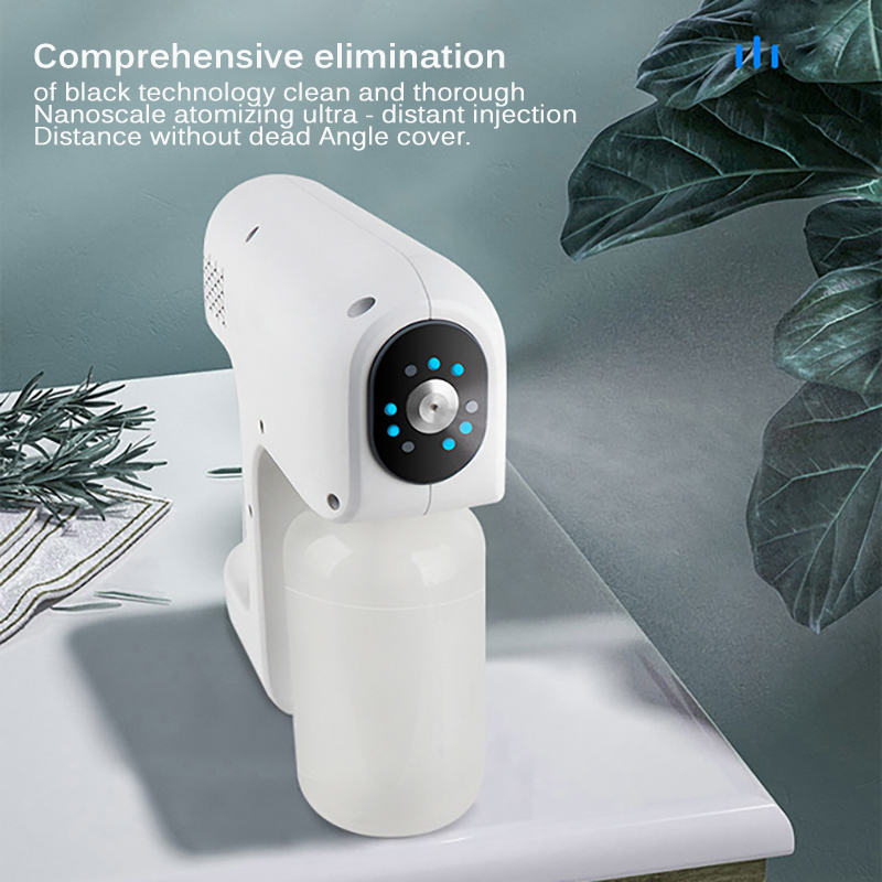 12V Smoke Machine Stage Fogger 400mL Nano Disinfection Steam Gun Water Mist Sprayer For Car Indoor Home DJ Disco Music KTV-2