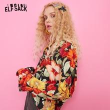 Blouses Tops Floral ELFSACK