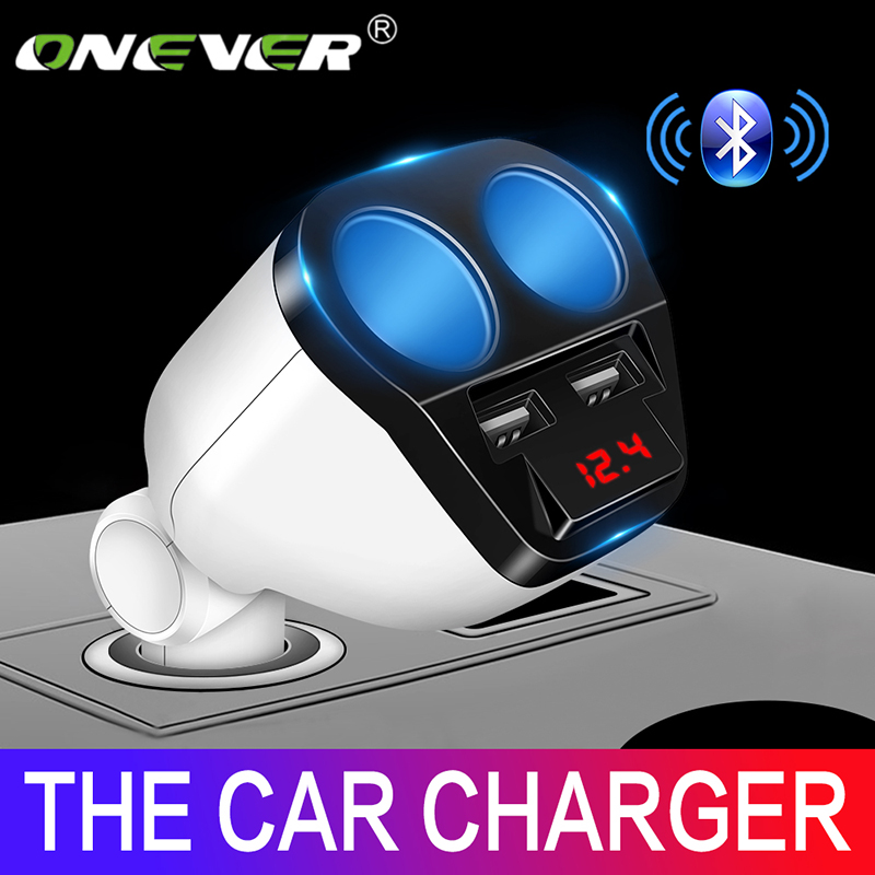 Onever 120W Dual USB Car Charger Cigarette Lighter Socket Splitter Max 3.4A Power Adapter Charger For IPhone 7 Samsung Galaxy S8