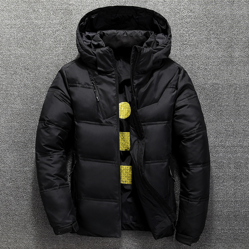 Winter Warm Men Jacket Coat Casual Autumn Stand Collar Puffer Thick Hat White Duck Parka Male Men's Winter Down Jacket With Hood 3