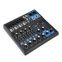 8 kanałowy DJ zasilany mikser profesjonalna moc wzmacniacze miksujące gniazdo USB 16DSP 110 130V zasilanie Phantom dla mikrofonów UK wtyczka|Odtwarzacze karaoke|Elektronika użytkowa -