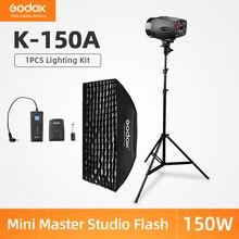 Godox K 150A 150Ws estudio de fotografía lámpara estroboscópica para Flash + 50 70cm x 70cm Gird Softbox + 180cm soporte de luz + RT 16 gatillo Kit de Flash