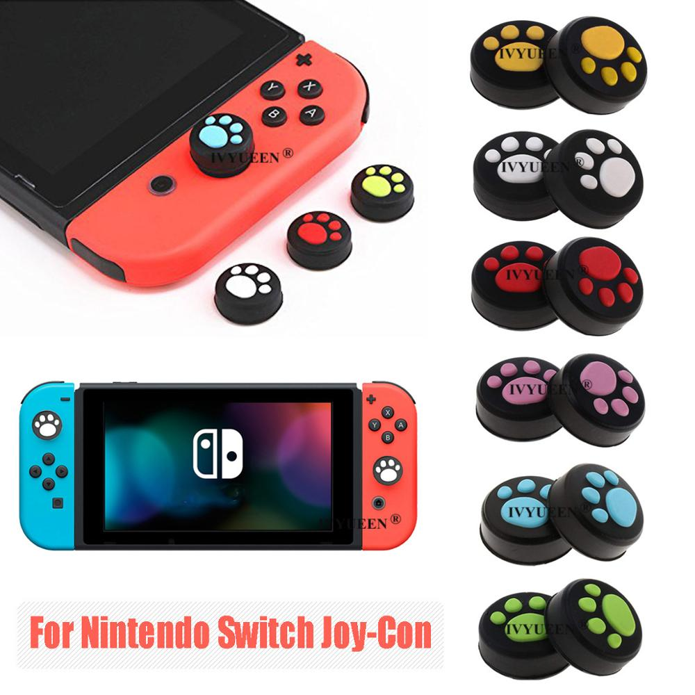 IVYUEEN 4 Pcs Silicone Thumb Grips Cover For Nintend Switch NS Lite Joy Con Analog Stick Caps Skin For JoyCon Joystick Grip
