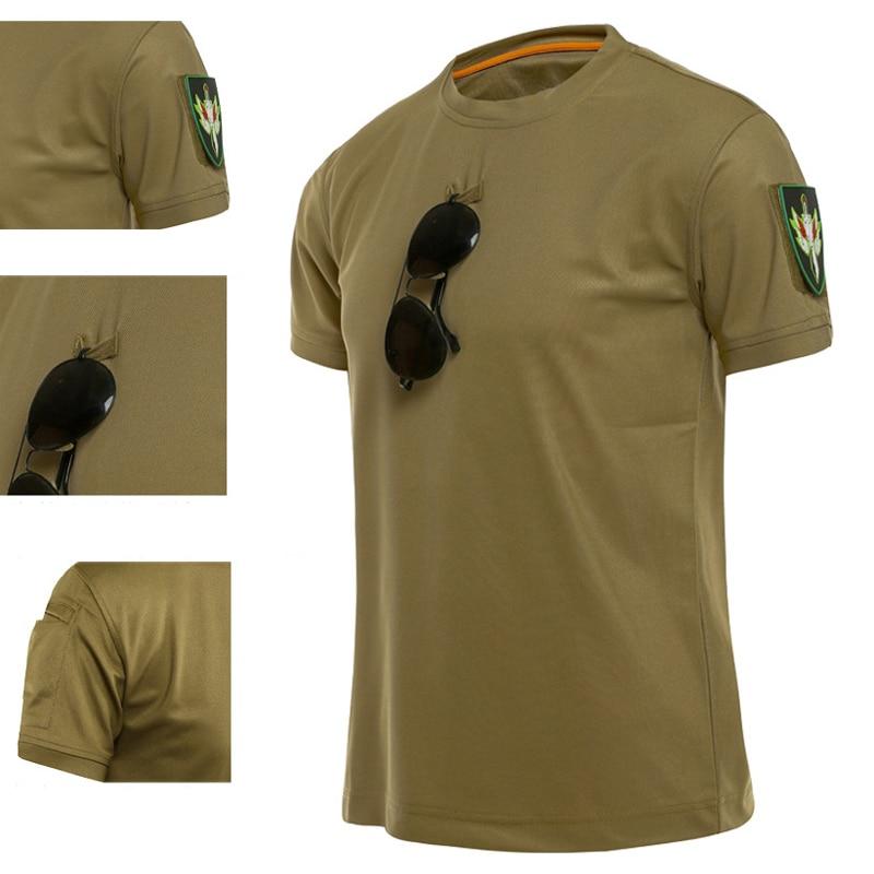 Тактическая Экипировка камуфляжная армейская футболка для фитнеса для мужчин Бодибилдинг RU солдат боевой тактический Painball футболка Военн...