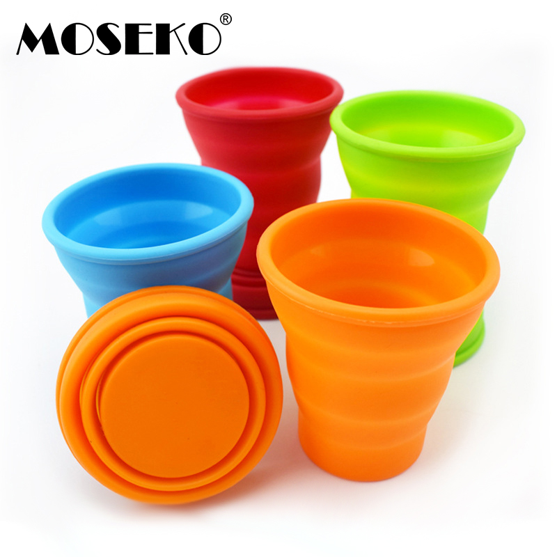 MOSEKO Folding Silicone Cup Portable Silicone Telescopic Drinking Collapsible Coffee Cup Multi-function Foldable Mug Travel