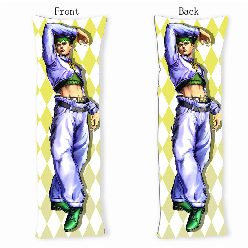 jojo s bizarre adventure rohan kishibe dakimakura body pillow case cover anime printed decorative pillowcases