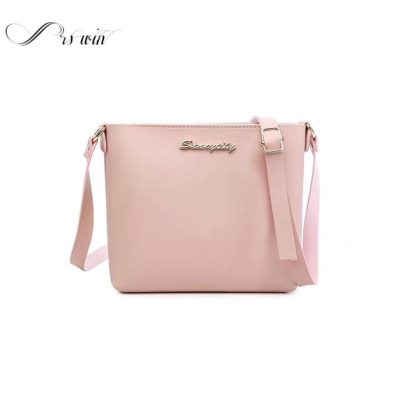 Luxury Small Female Bag Casual Shoulder Bags Ladies PU Leather Crossbody Bag Solid Clutch Zipper Crossbody Bag Purse Sac Femme