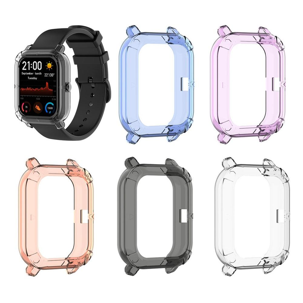 CARPRIE TPU Frame Bumper Cover Case Shell Protector For Xiaomi Huami Amazfit GTS Smart Watch Bracelet Protective Accessories