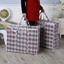 1Pc Big Capacity Jumbo Home Laundry Plastic Bags Large Zipper Reusable Strong Laundry Storage Plastic Bag Holder Pouch Organizer