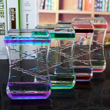 Drip Oil Acrylic Hourglass Desktop Colored Decoration Liquid Motion Bubble Hourglass Liquid Floating Oil Hourglass Gifts youda new creative design diamond shape oil hourglass stress reliever oil sand timer best birthday gift oil hourglass