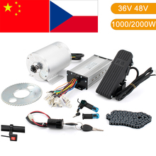 цена на Electric Scooter Motor Kit Electric Go kart kit 1000W 2000W 36V 48V Electric Motor for Skateboard Ebike Motor Controller ATV