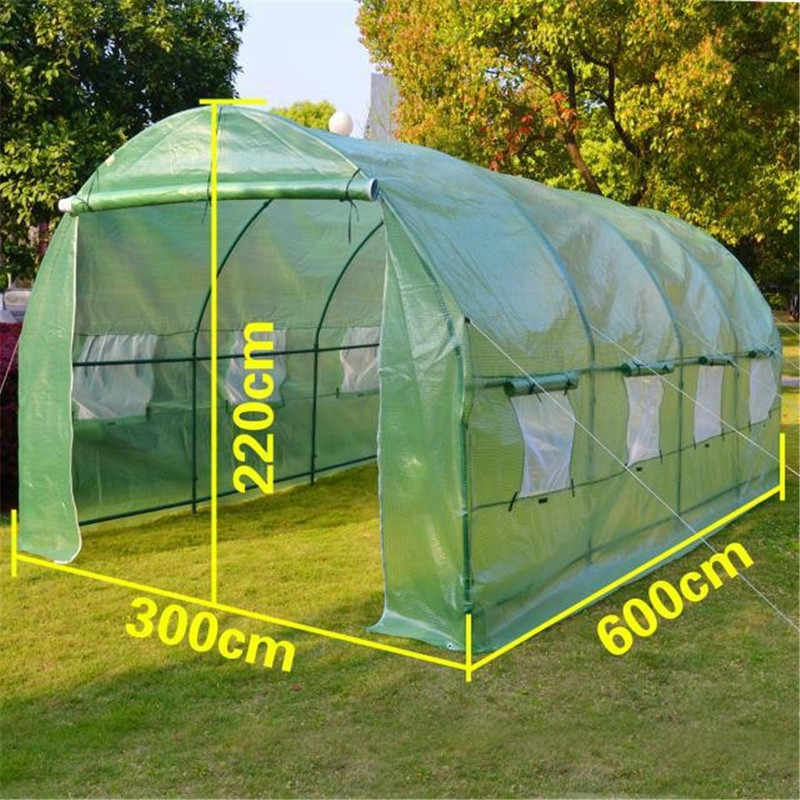 AULAYSED Greenhouse for Garden Outdoor Green Houses Flower Plant Keep Warm Cover PE Plastic Roll-up Zipper Durable Shed Iron