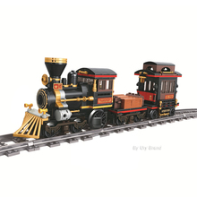 923pcs Classic Steam Train Track Rail Technic Building Block Set Fit City Creator Figures Diy Brick Toys For Kid Education Gift