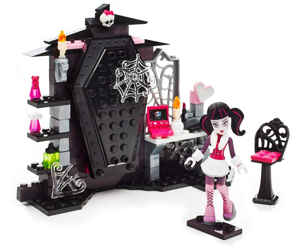 Monster High Draculaura Vamptastic Room Bedroom 128 Pcs  Mega Building Bloks Toy