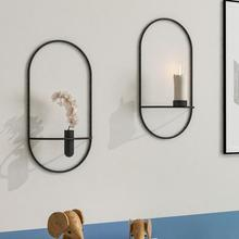 Candle-Holder Tea-Light Dry-Flower-Vase Geometric Home-Decor Vintage Hanging Modern-Art