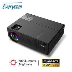 Everycom M9 CL770 Native 1080P Full HD 4K Projector LED Multimedia System Beamer 6800 Lumens Auto Keystone Home Cinema Speaker*2