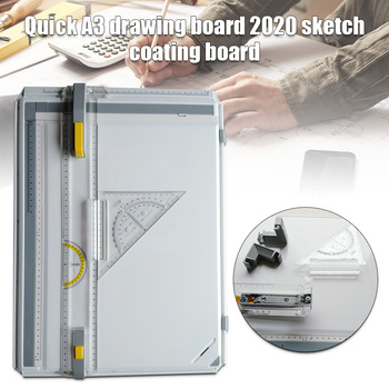 Manual Drawing Board Drawing Table with Accessories Drawing Head Draft Painting Plate NC99
